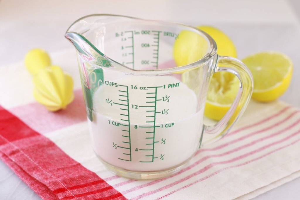 How to make Homemade Buttermilk- Make it at home easily with just milk and lemon juice, that's it!